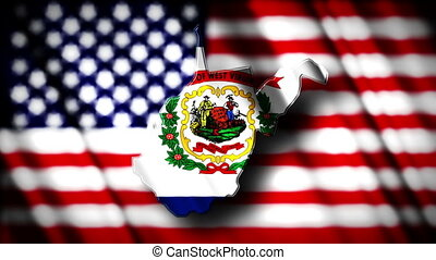 West Virginia 03 - Flag of West Virginia in the shape of...