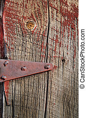 Barn Wood Texture 4 - Weathered barn wood shows worn red...