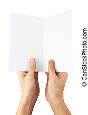 hands with paper