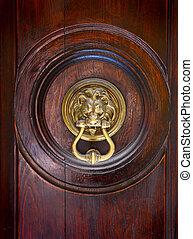 doorhandle - obsolete doorhandle on an ancient door