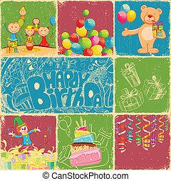Födelsedag, collage