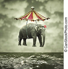 Fanciful elephant - Fanciful and artistic image that...