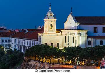 Covent of the Grace in Alfama old downtown of Lisbon, Portugal.