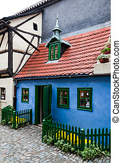 Golden Lane little house, Prague - Golden Lane, the street...