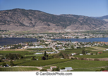 Osoyoos and Osoyoos Lake in the summer