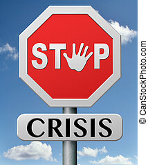 stop crisis recession and inflation stopping economic...