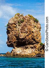 Morgans Head Closeup - Closeup view of Morgans head rock...