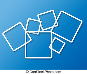 Abstract background with frames vector illustration