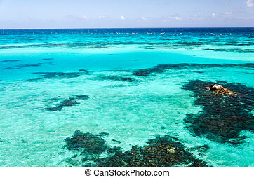 Turquoise Water - View of turquoise and blue Caribbean water...