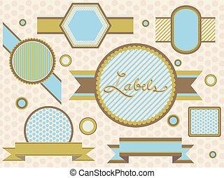 Badges and Labels Retro Design 1 - Illustration of Badges...