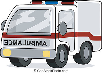 Toy Ambulance - Illustration of a Toy Ambulance