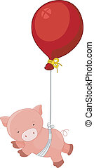 Floating Pig and Balloon