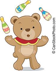 Circus Bear Juggler