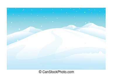 snowcapped Mountain - This illustration is a common natural...