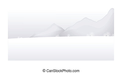 Snow mountain landscape - this illustration is the general...