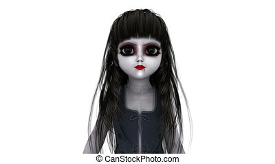 young woman doll - image of horror doll