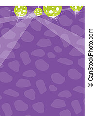 Disco ball on color background