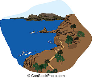 Coastline - This illustration is a common cityscape.