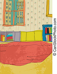Home interior - This illustration is a common cityscape.