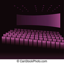 Empty movie theatre - This illustration is a common...