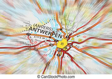 Destination - Antwerpen zoom effect - Tourist conceptual...