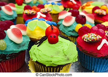 Spider novelty cupcake - A home made spider cup cake at a...