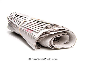Newspaper - A daily newspaper ready for a loyal subscriber