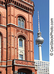 Rotes Rathaus Berlin - the Red City Hall, Rotes Rathaus, and...