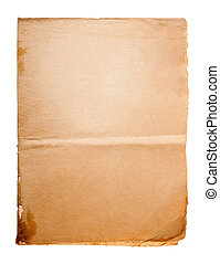 Old parchment - Dirty old paper isolated on white