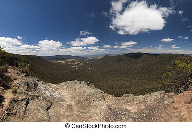 Megalong Valley XXXL - The Megalong valley from Mt White,...
