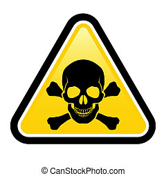 Skull danger signs. Illustration on white background for...
