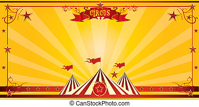 Orange circus invitation - An invitation card for your...