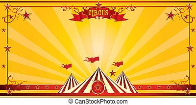 Orange circus invitation