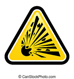 Explosive Hazard Sign Illustration on white background for...