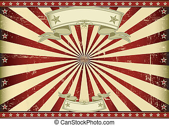 Screen red vintage sunbeams - A vintage horizontal poster...