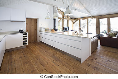 Modern Kitchen 2 - Modern contemporary kitchen open plan...