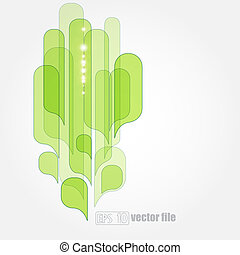 abstract green leaves eco background