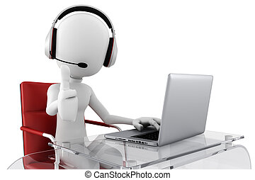 Conference Call Centers ... 3d man call center ready to help