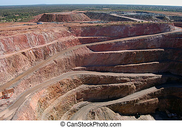 Gold mine open pit at Cobar town, Australia
