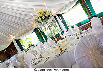 Wedding venue - A wedding venue before the party is...