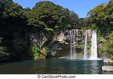 Cheonjiyeon waterfall, Jeju Island, Korea