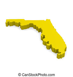 Florida - 3d map of Florida