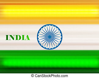 Shiny indian flag tricolor vector design art