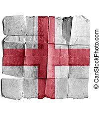 England sign on old paper.