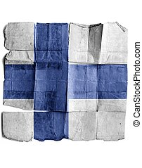Finland sign on old paper.