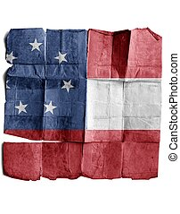 Confederate army's first national flag