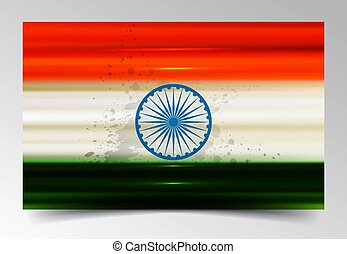Fantastic indian flag tricolor vector