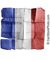 France sign on old paper.