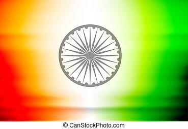 Beautiful shiny stylish indian flag vector illustration