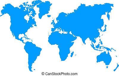 Carte geographique - Une simple carte geographique colorer...